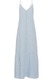 Maureen linen-chambray maxi dress