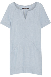 Ada linen-chambray mini dress