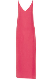 Racquel silk-charmeuse maxi dress
