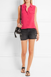 Equipment Slim Signature washed-silk top