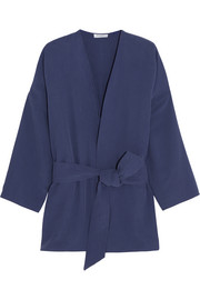 Davin oversized washed-silk jacket