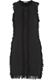 Edun Fringed stretch-knit dress