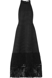 Edun Macramé-trimmed wool-blend dress