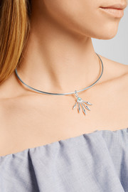 5 Spike silver turquoise choker