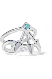 Pamela Love Beam silver turquoise ring