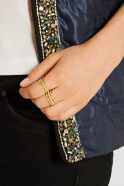 Pamela Love Static gold-tone ring