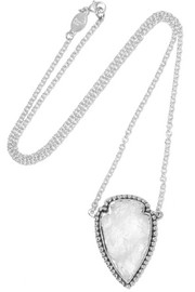 Pamela Love Arrowhead silver quartz necklace