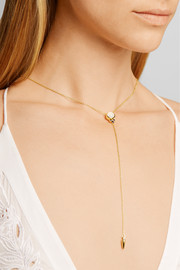 Pamela Love Levitation Lariat gold-plated, moonstone and iolite necklace