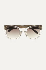 Cat-eye acetate and watersnake sunglasses