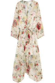 Mischief floral-print silk-georgette dress