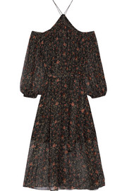 Zimmermann Havoc off-the-shoulder printed silk-georgette dress