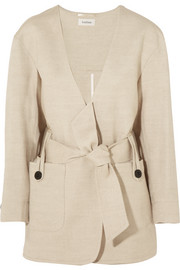 Innsbruck linen and cotton-blend jacket