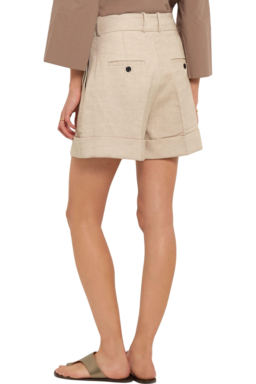 Totême Tanzania linen and cotton-blend shorts