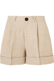 Tanzania linen and cotton-blend shorts