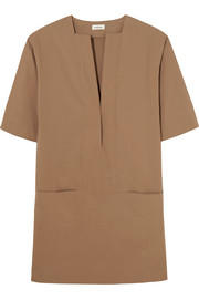 Zagora stretch-cotton poplin mini dress
