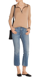 Rhones two-tone cashmere top