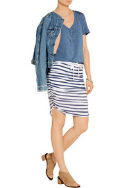 Splendid Striped stretch-jersey skirt