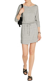 Splendid Wrap-effect stretch-modal jersey mini dress