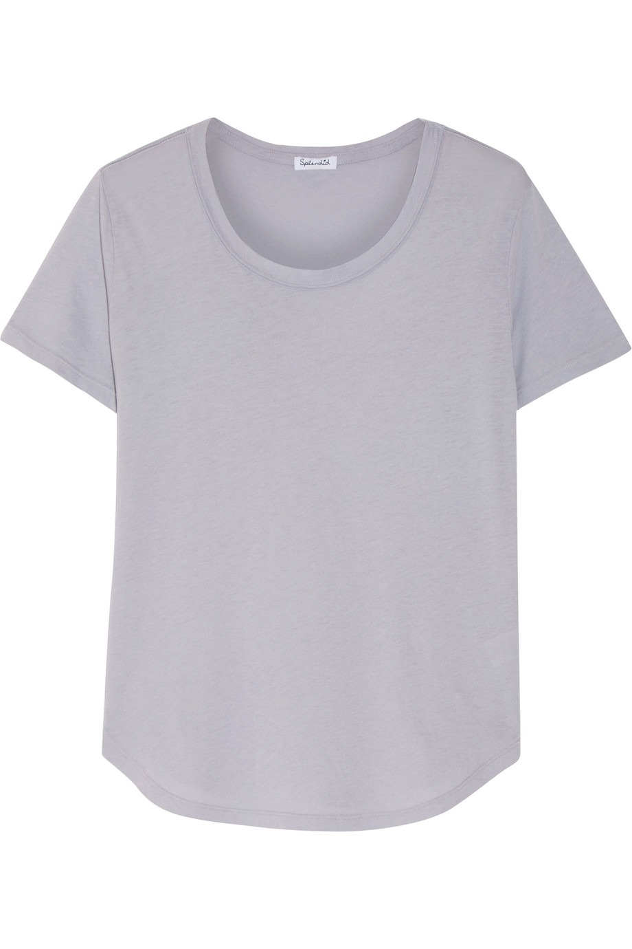 Splendid Supima Cotton and Micro Modal-Blend Jersey T-Shirt, Light Gray, Women's