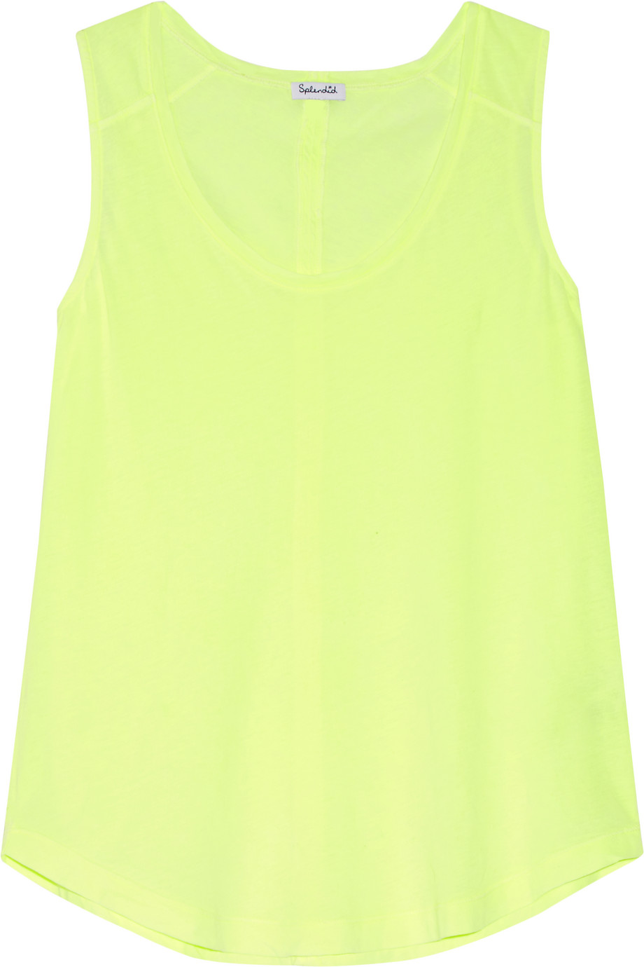 Splendid Supima Cotton Tank, Bright Yellow, Women's, Size: XS