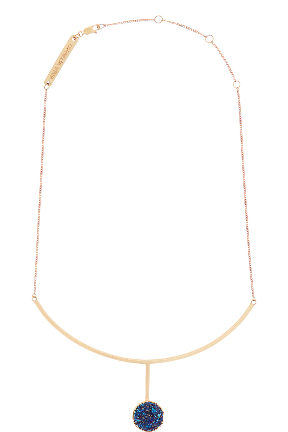 Gold-Plated Druzy Necklace, Women's