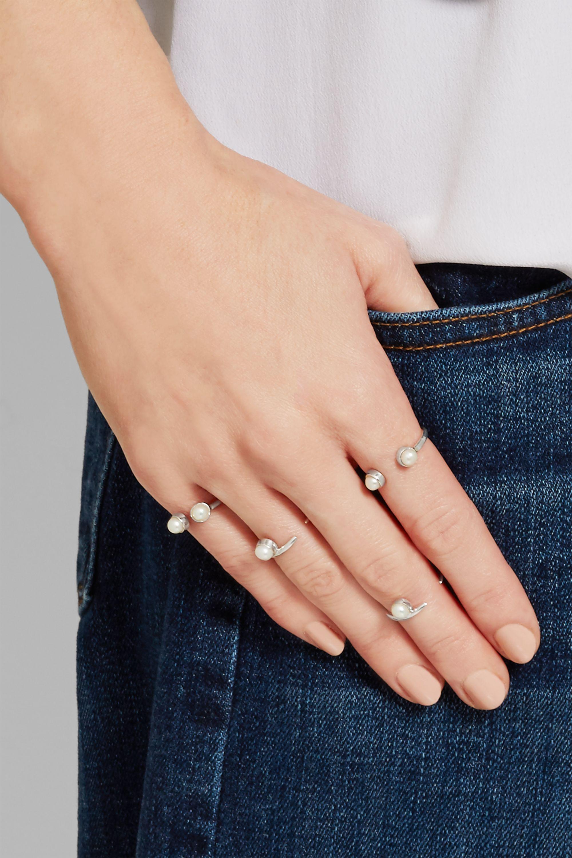 Cornelia Webb Set of four silver pearl rings