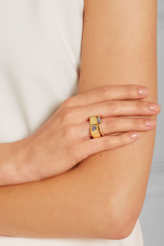 Cornelia Webb Bague en plaqué or et opale