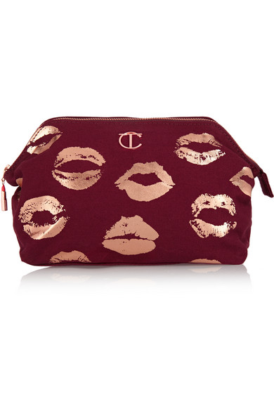 Charlotte Tilbury - Printed Cotton-canvas Cosmetics Case - Burgundy