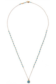 Chan Luu Gold-plated turquoise necklace