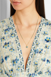 Gold-plated turquoise necklace