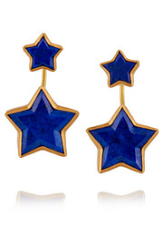 Cassiopeia 22-karat gold lapis lazuli earrings