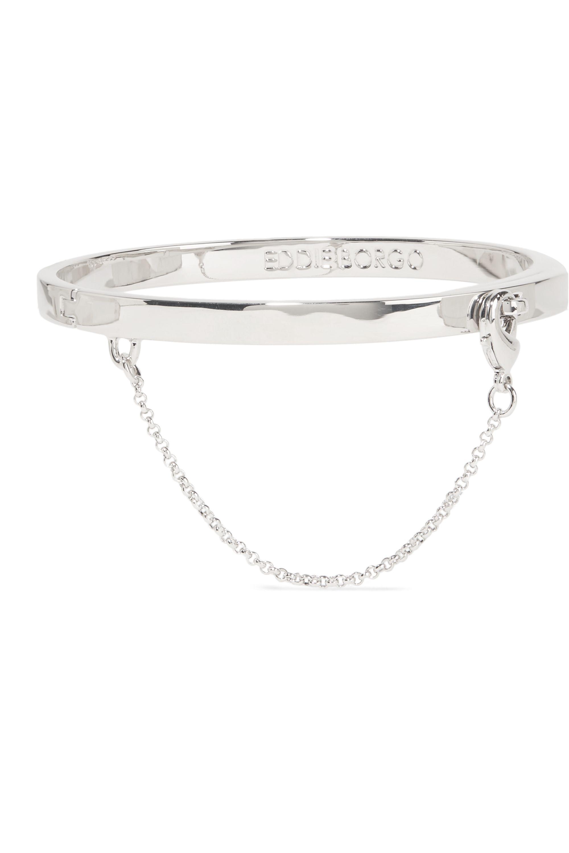 Eddie Borgo Safety Chain rhodiniertes Armband
