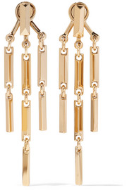 Peaked Link gold-plated earrings