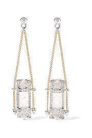 Sibyl silver and gold-plated crystal earrings