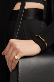 Eddie Borgo Octagon Signet gold-plated ring