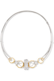 Sibyl silver and gold-plated crystal necklace