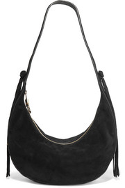 Zoe tasseled suede shoulder bag