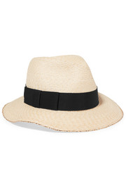 Eugenia Kim Lillian grosgrain-trimmed woven hemp fedora