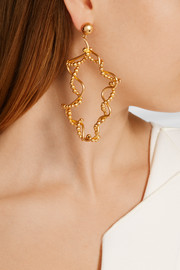 Tree gold-plated earrings