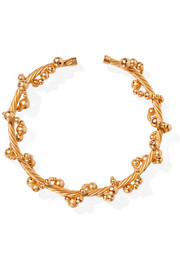 Tree gold-plated choker