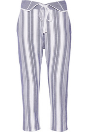 Brooke striped cotton tapered pants