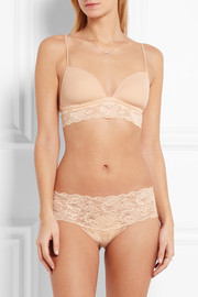 Never Say Never Soire mesh and lace soft-cup bra