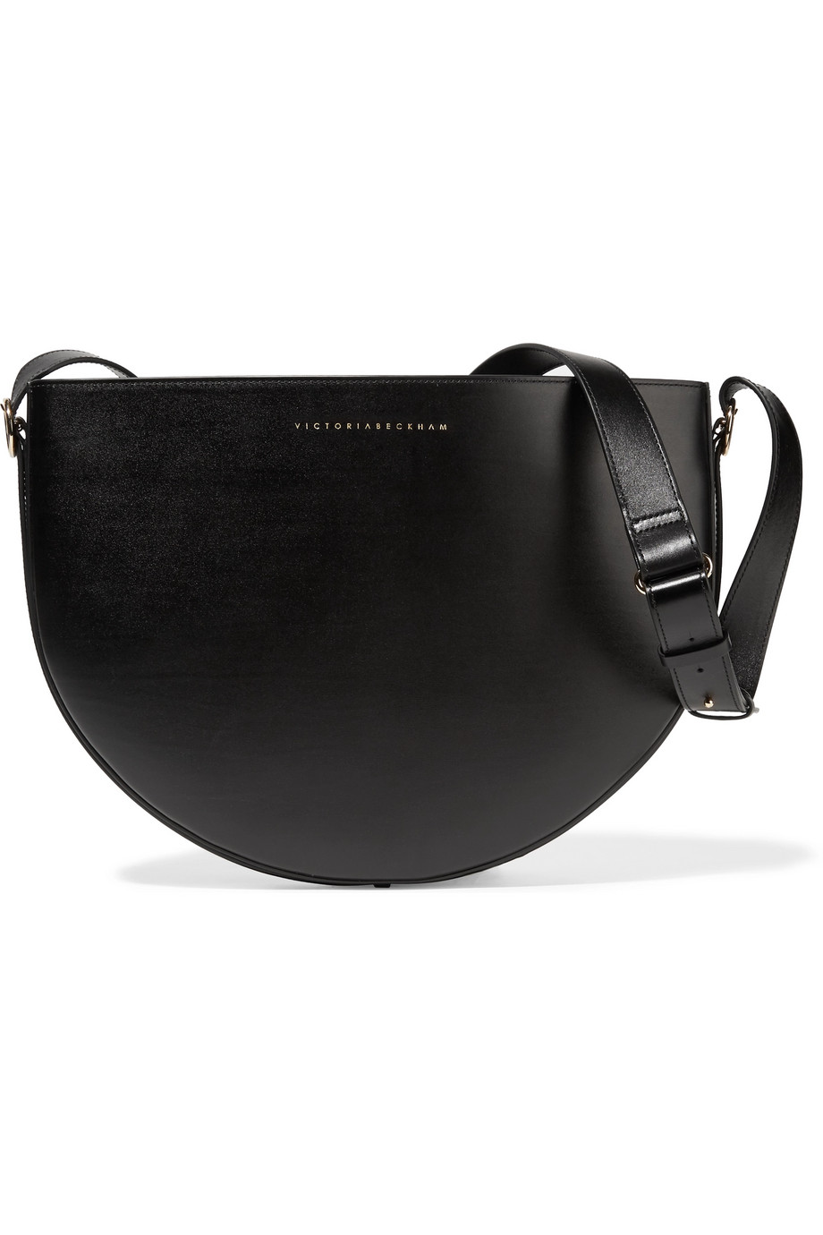 Victoria Beckham Half Moon Leather Shoulder Bag, Black, Women's
