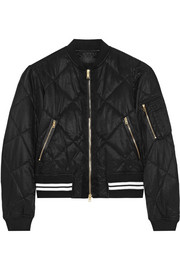 Rag & bone Vine quilted satin-twill bomber jacket