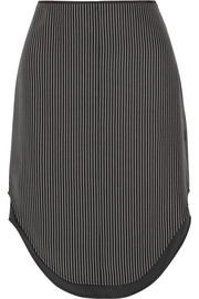 Madison layered striped silk skirt
