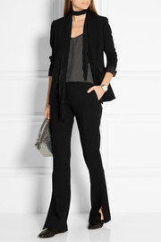 Rag & bone Windsor grosgrain-trimmed crepe blazer
