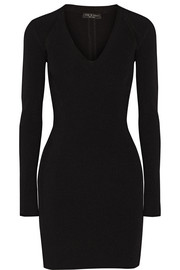 Galina cutout ribbed-knit mini dress