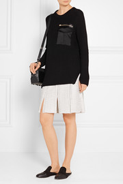 Rag & bone Greer satin-trimmed cotton-blend sweater