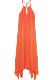 Jaelyn crepon halterneck maxi dress