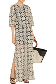 Kellyanne embroidered cotton-blend tulle maxi dress